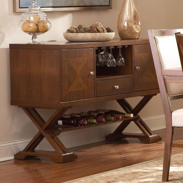 Elegant Garrison Medium Cherry Wood Buffet Table