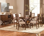Garrison Medium Cherry Wood Dining Table Set