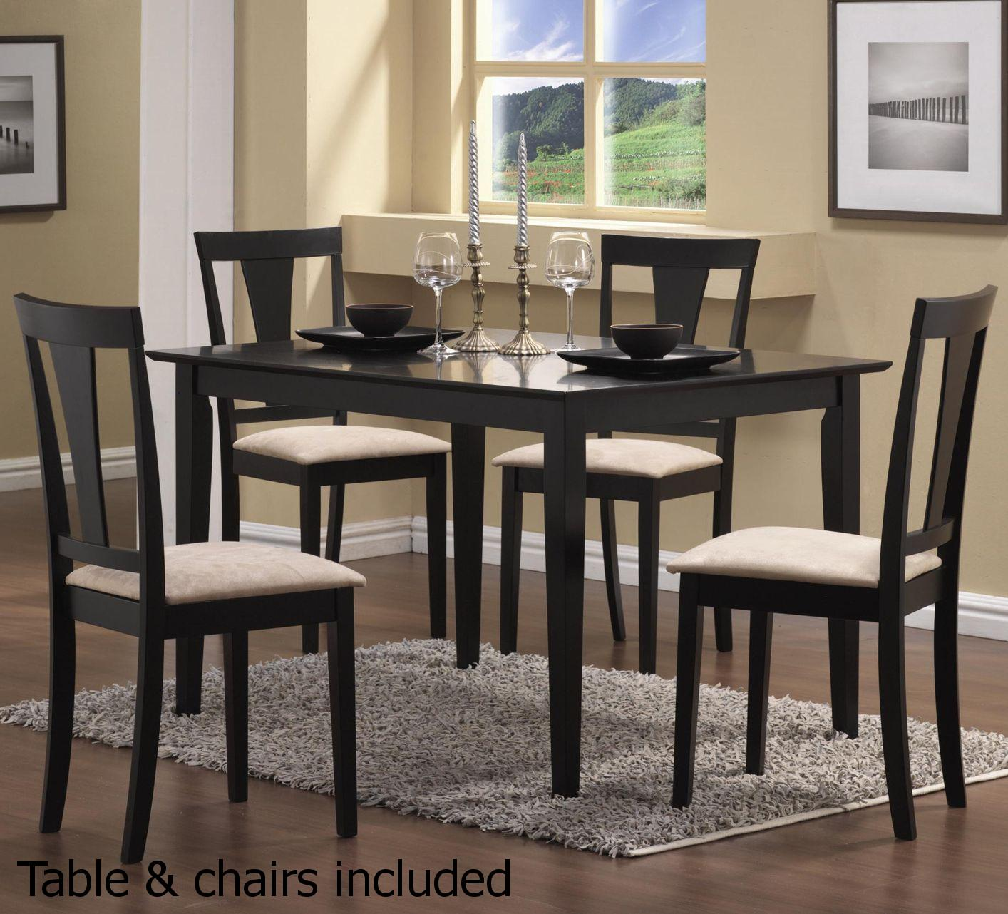 Dark Wood Dining Set: Steal-A-Sofa Furniture Outlet Los Angeles CA