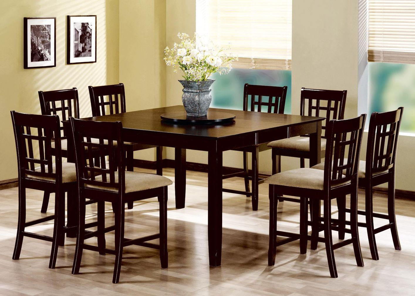 Attrayant Geneva Cappuccino Wood Pub Table Set