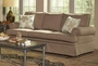 Genevieve Sandy Brown Fabric Sofa