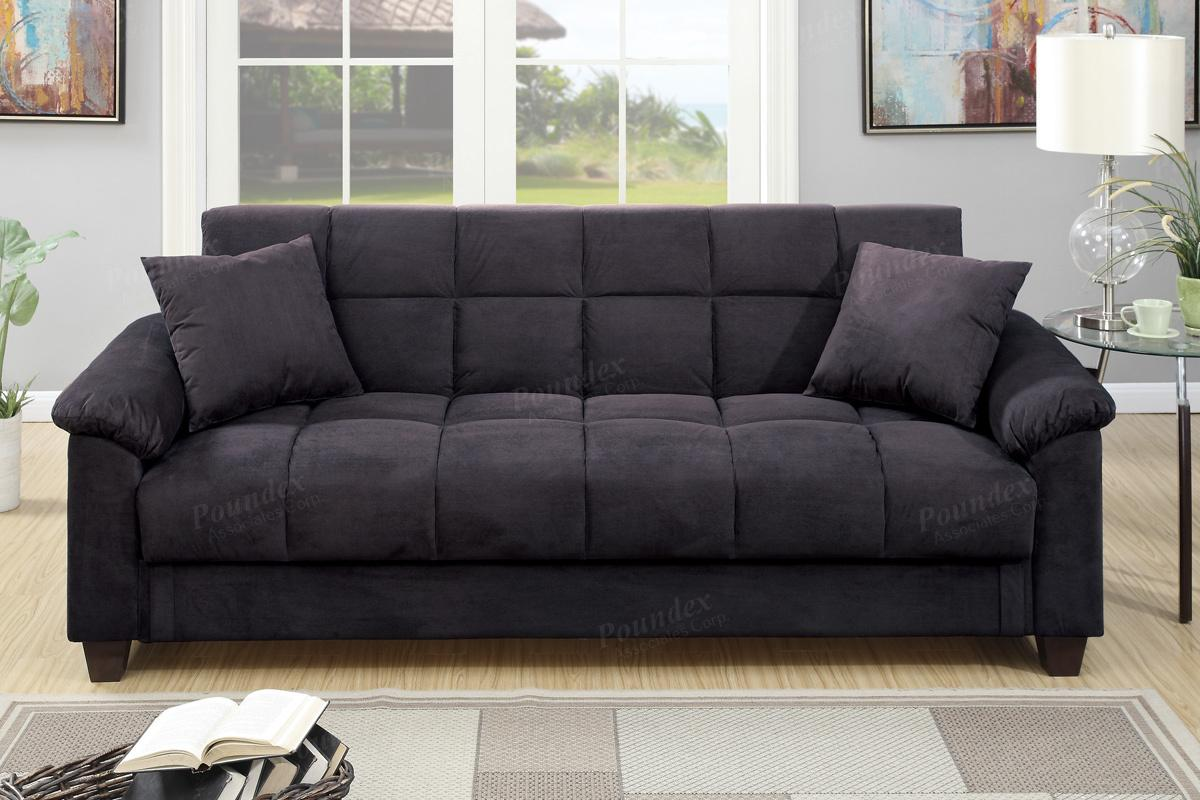 Black fabric sofa bed steal a sofa furniture outlet los for Black fabric couches