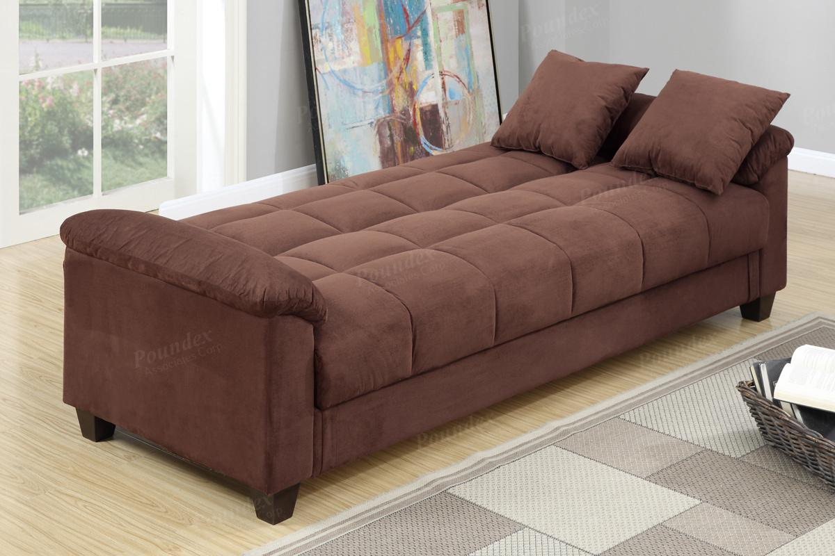 Gertrude Brown Fabric Sofa Bed Gertrude Brown Fabric Sofa Bed ...