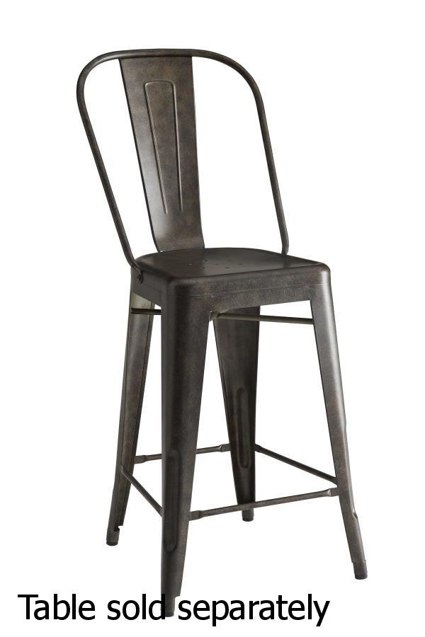 Gold Metal Dining Chair