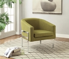 Green Metal Accent Chair