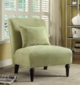 Green Fabric Accent Chair