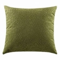 Green Fabric Accent Pillow
