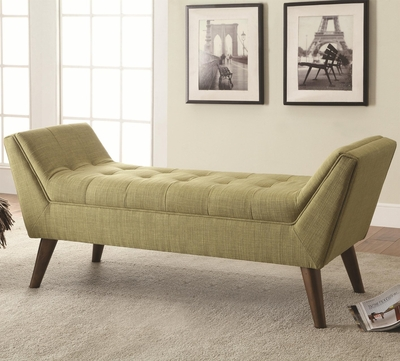 Green Fabric Bench