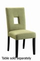 Green Fabric Dining Chair