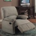 Green Fabric Reclining Chair