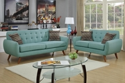 Cosmo Green Fabric Sofa and Loveseat Set