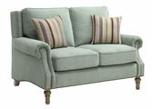 Green Wood Loveseat