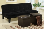 Black Fabric Twin Size Sofa Bed