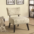 Norah White Fabric Accent Chair