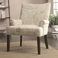 White Fabric Accent Chair
