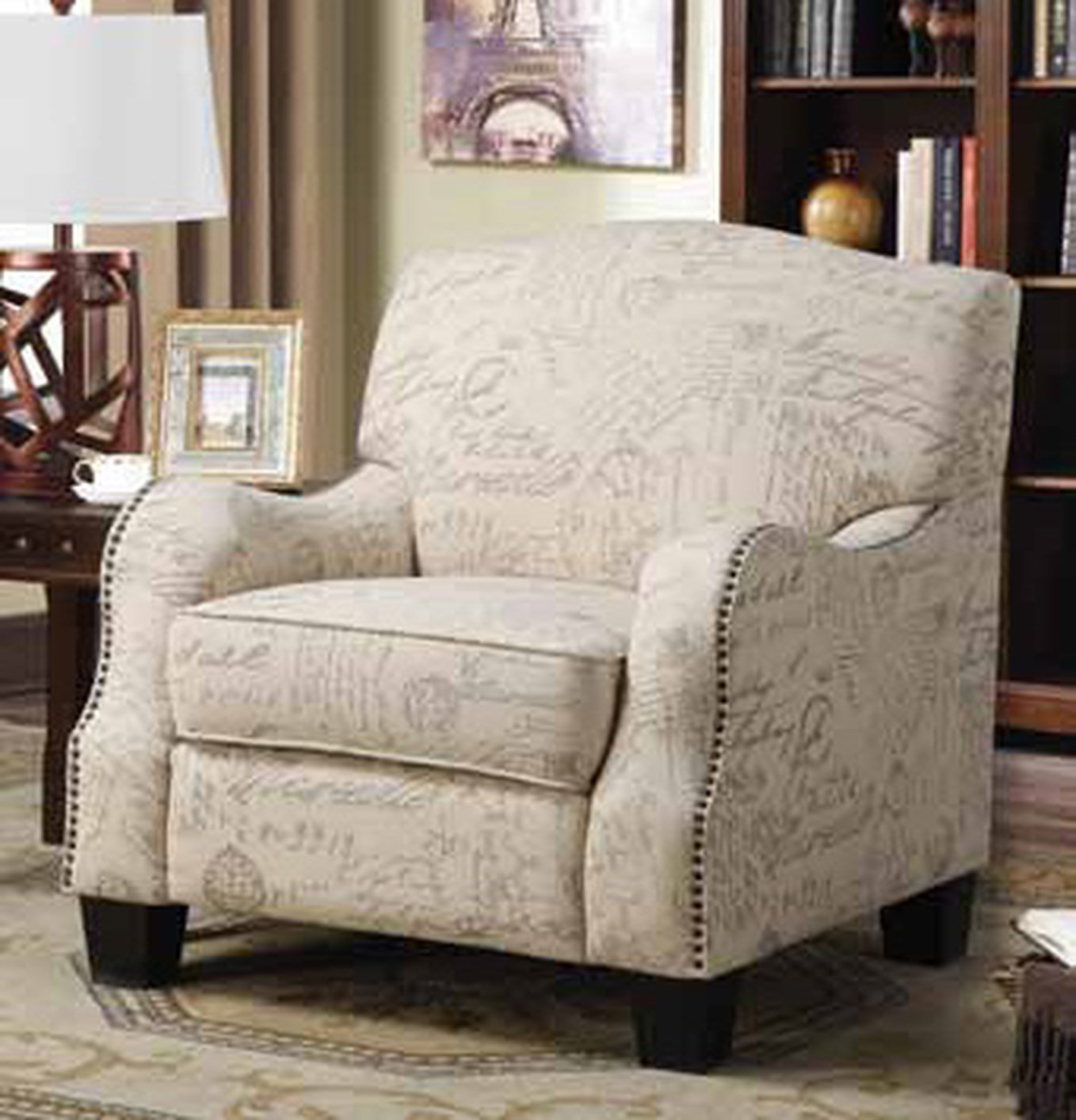 Grey Fabric Accent Chair Steal A Sofa Furniture Outlet Los