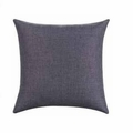 Grey Fabric Accent Pillow