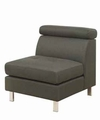 Grey Fabric Armless Chair