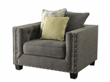 Kelvington Grey Fabric Chair