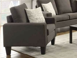 Bachman Grey Fabric Chair