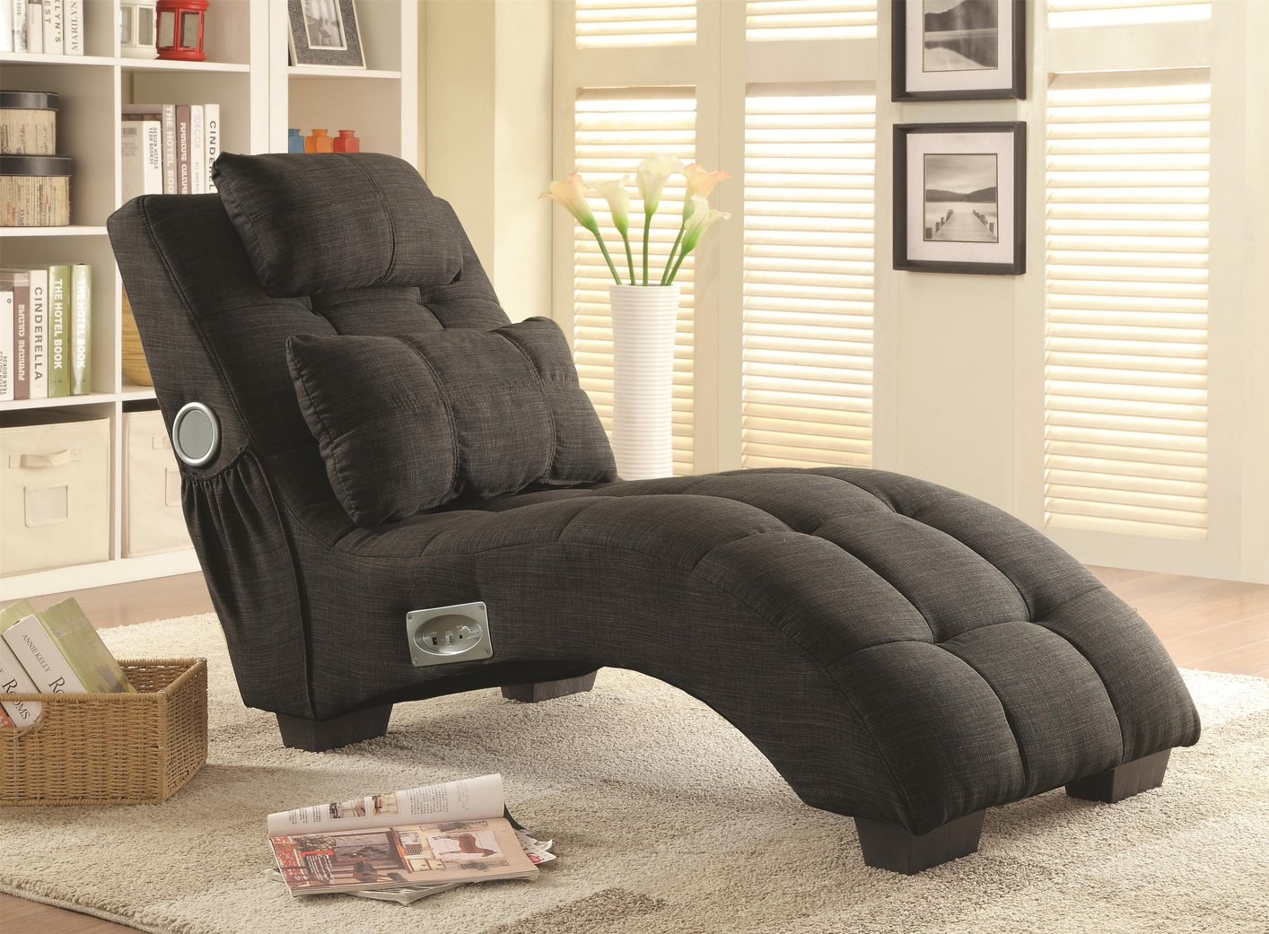 Grey Fabric Chaise Lounge : fabric chaise - Sectionals, Sofas & Couches
