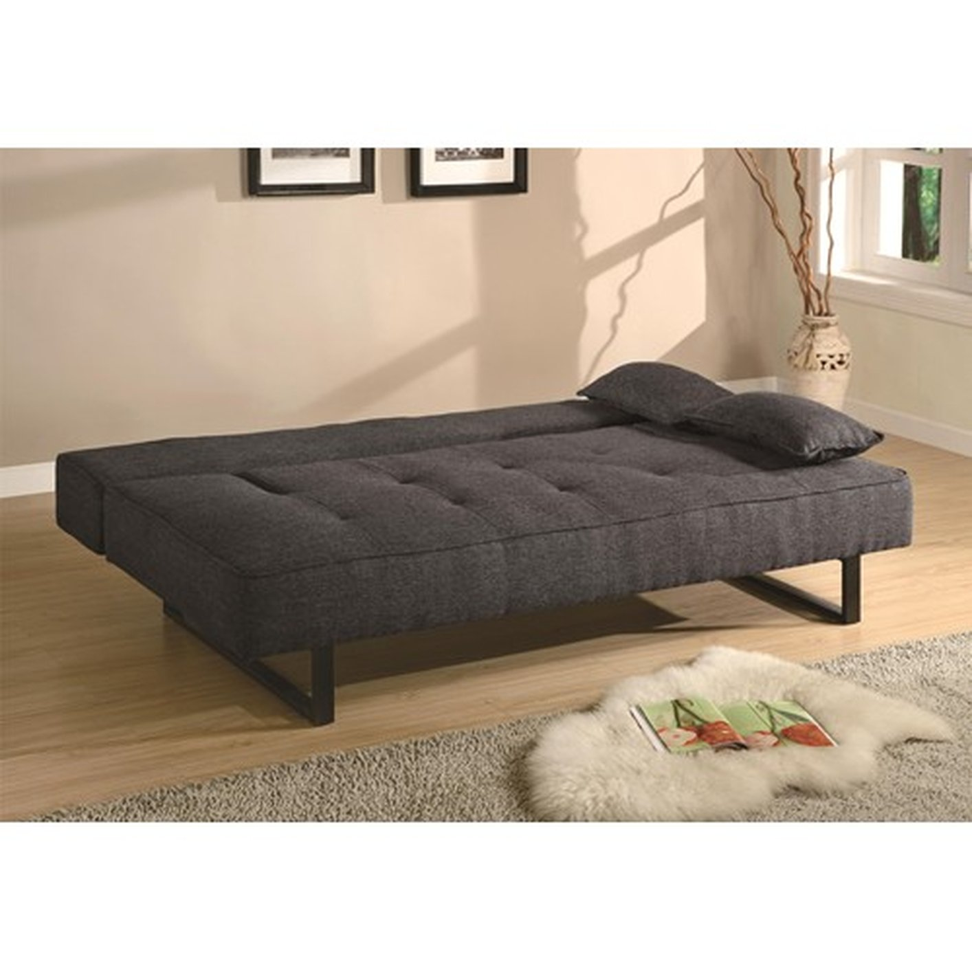 Coaster 300137 Grey Full Size Fabric Sofa Bed Steal A