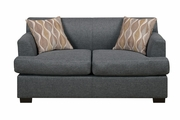 Montreal V Grey Fabric Loveseat