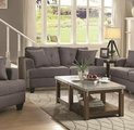 Grey Fabric Loveseat