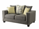 Kelvington Grey Fabric Loveseat