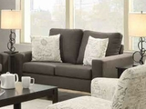 Bachman Grey Fabric Loveseat
