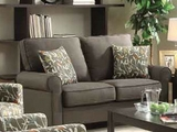Noella Grey Fabric Loveseat