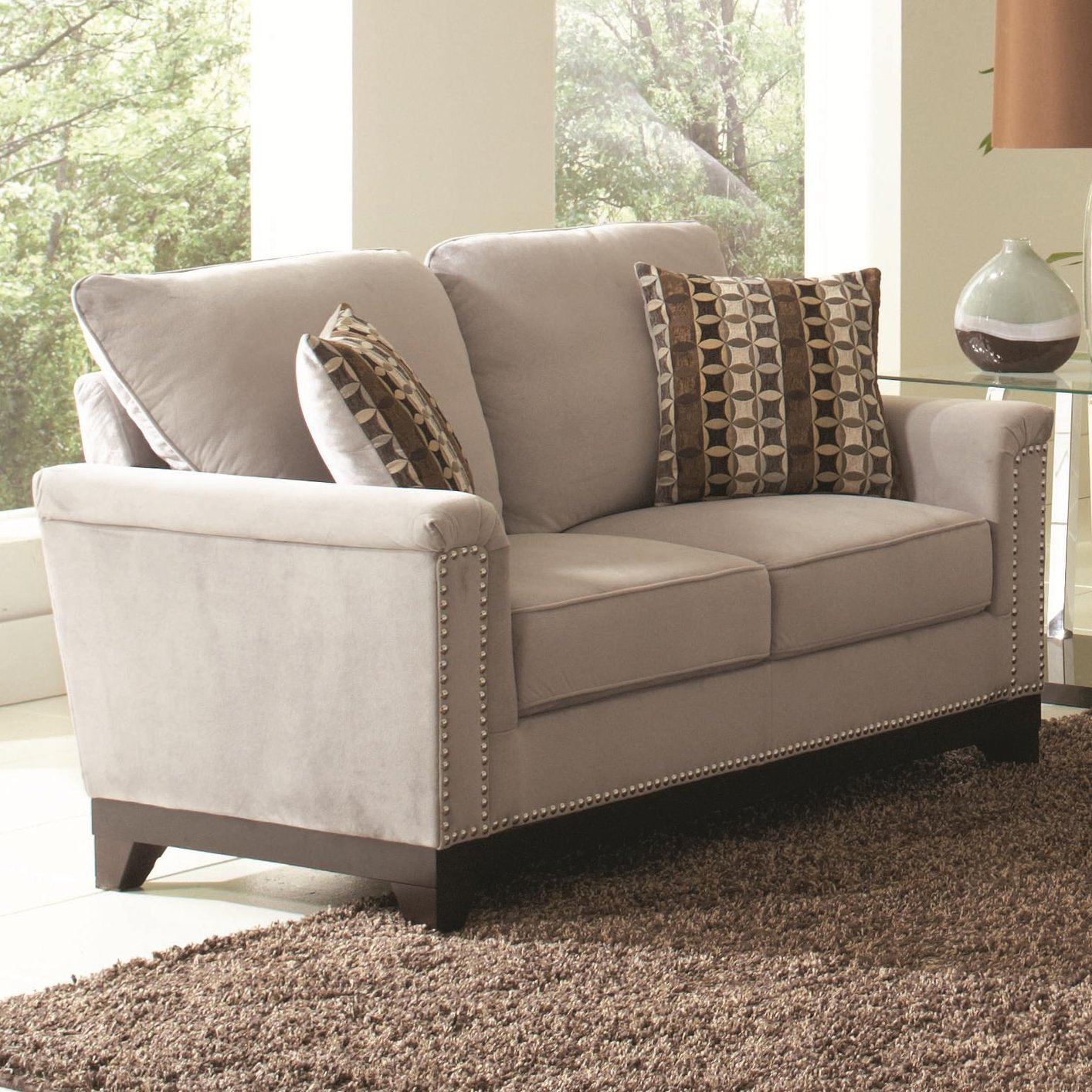 Coaster Mason 503602 Grey Fabric Loveseat Steal A Sofa Furniture Outlet Los Angeles Ca