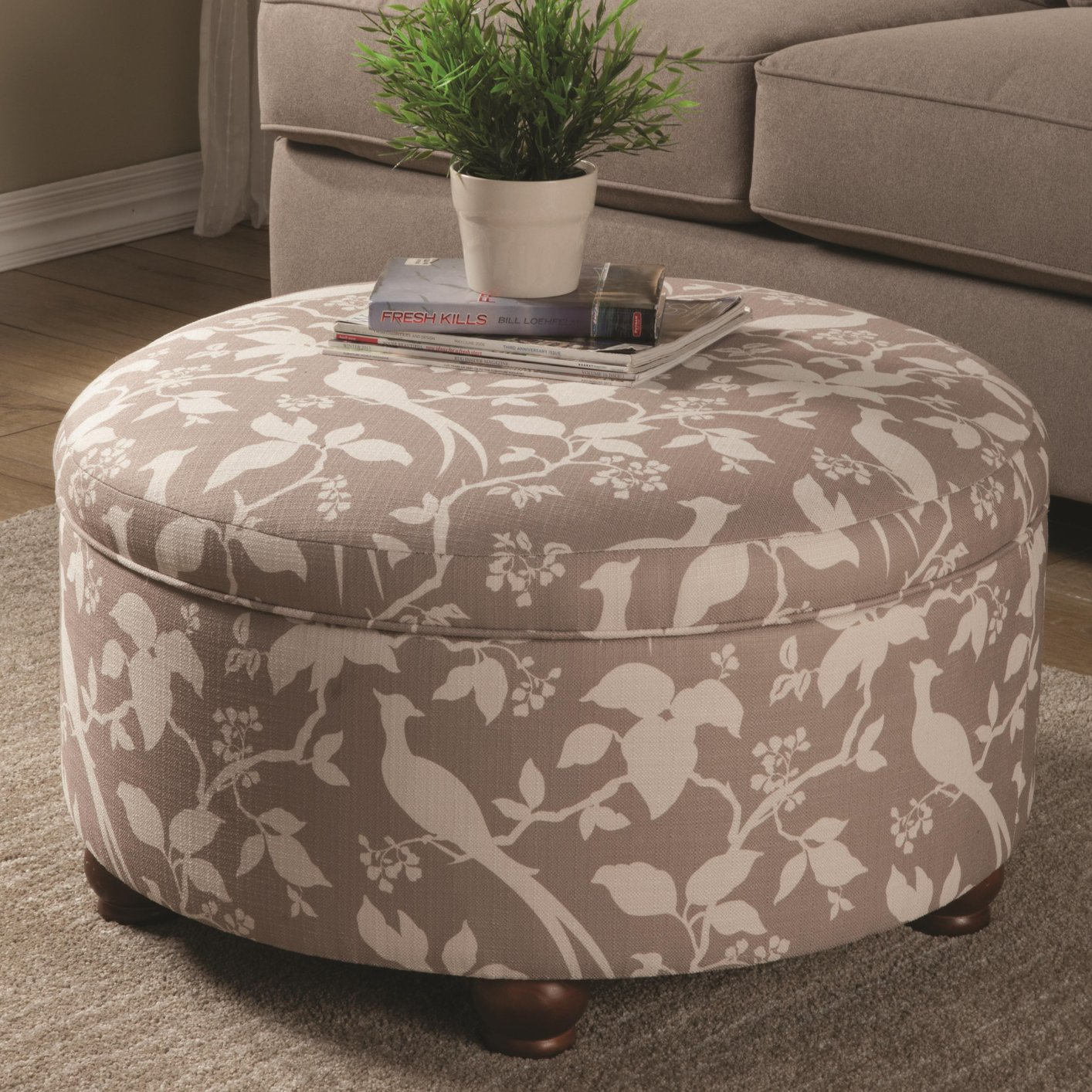 Ottomans Richmond White Ottoman: Steal-A-Sofa Furniture Outlet Los