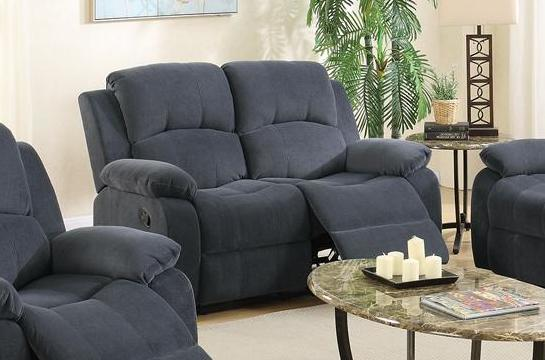 poundex f6781 grey fabric reclining loveseat stealasofa furniture outlet los angeles ca