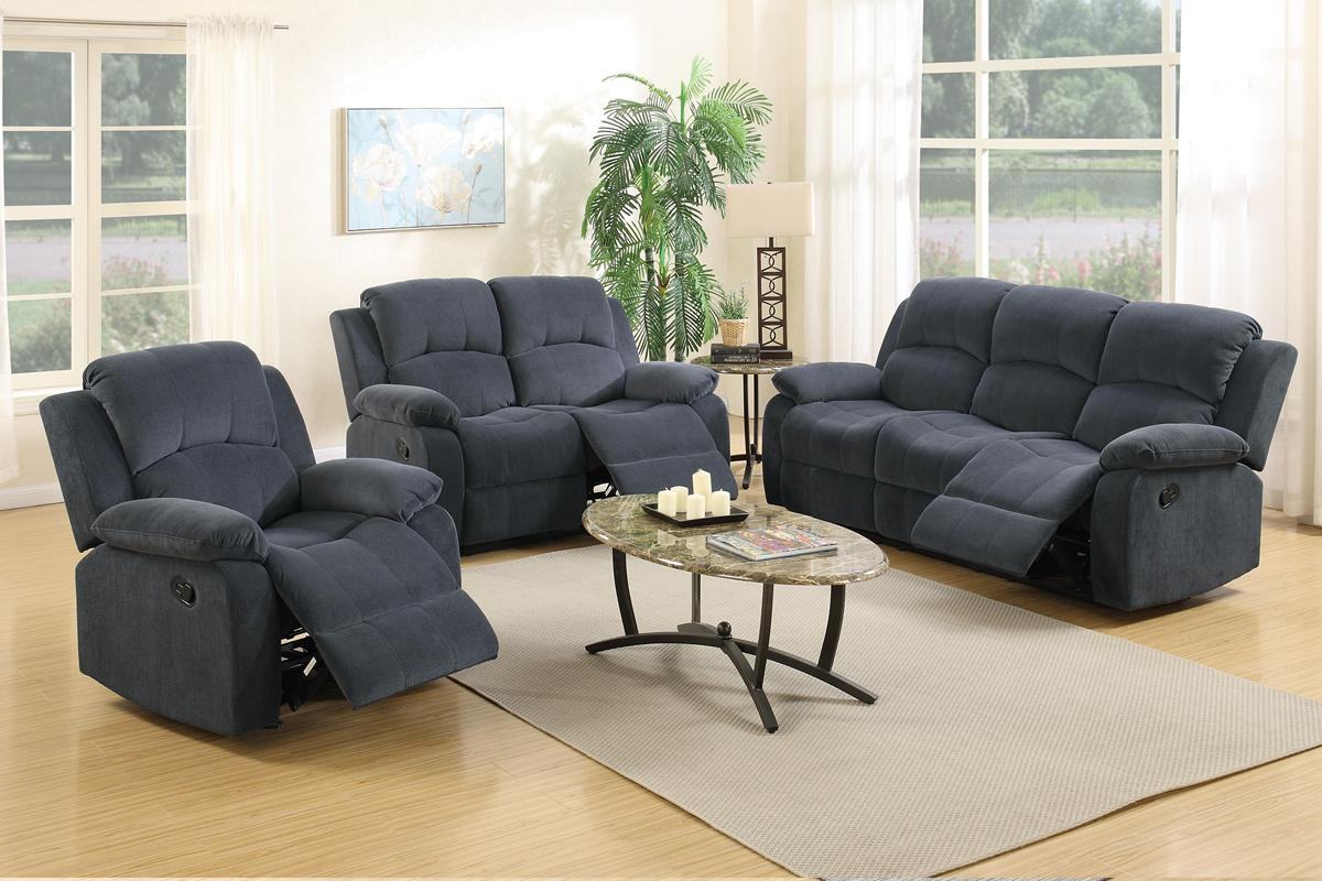 Grey fabric reclining loveseat steal a sofa furniture for Furniture 90036