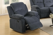 Grey Fabric Rocker Recliner Chair