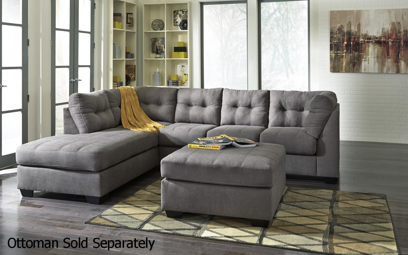 Grey Fabric Sectional Sofa - Steal-A-Sofa Furniture Outlet Los ...