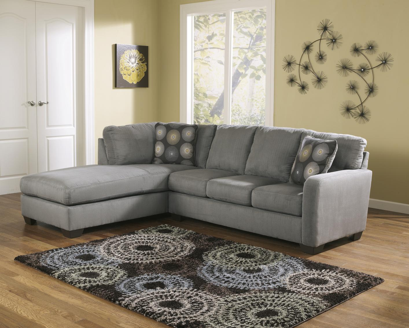 Lovely Grey Fabric Sectional Sofa