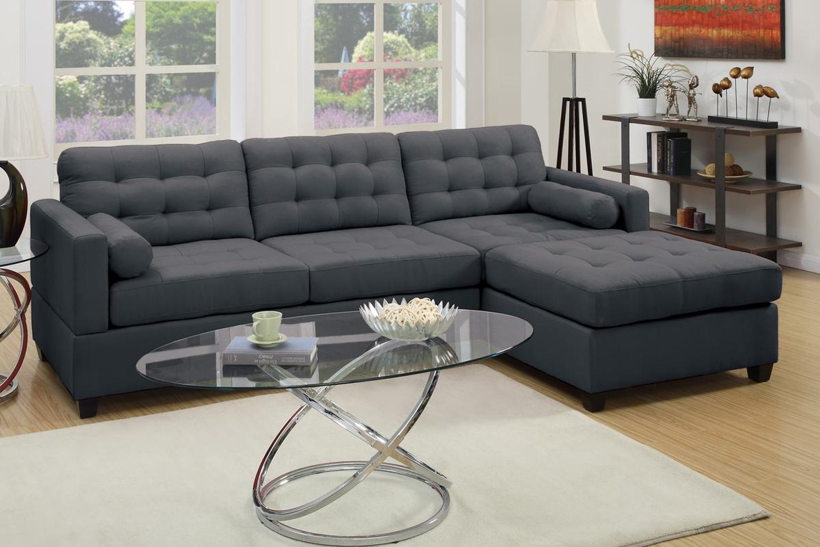 Black Sectional Couches grey fabric sectional sofa - steal-a-sofa furniture outlet los