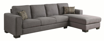 Norland Grey Fabric Sectional Sofa