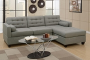 Grey Fabric Sectional Sofa
