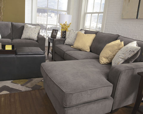 Grey Fabric Sectional Sofa Grey Fabric Sectional Sofa ... : grey sectional - Sectionals, Sofas & Couches