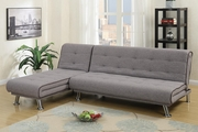 Grey Fabric Sectional Sofa Bed