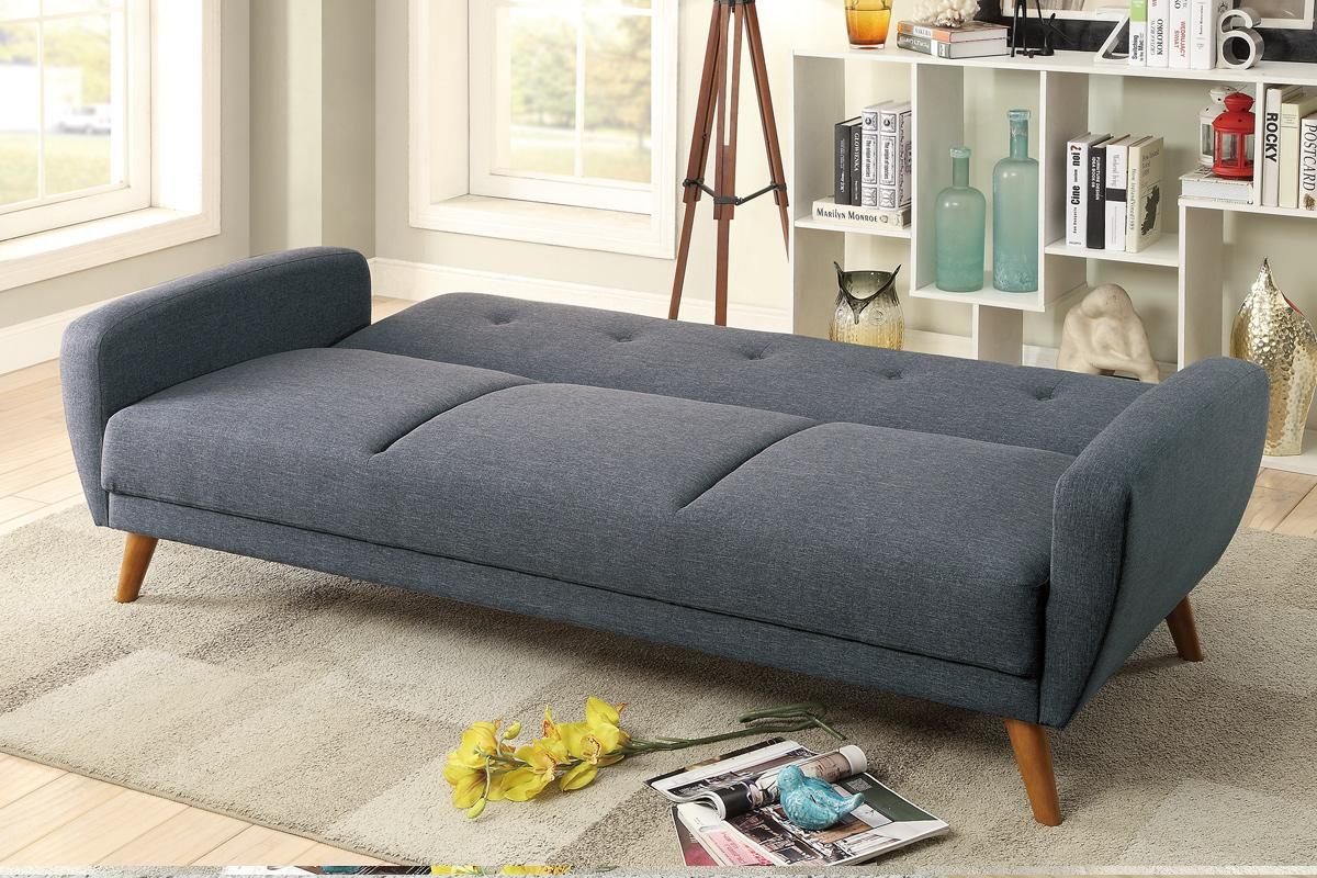 Grey Fabric Sofa Bed - Steal-A-Sofa Furniture Outlet Los ...