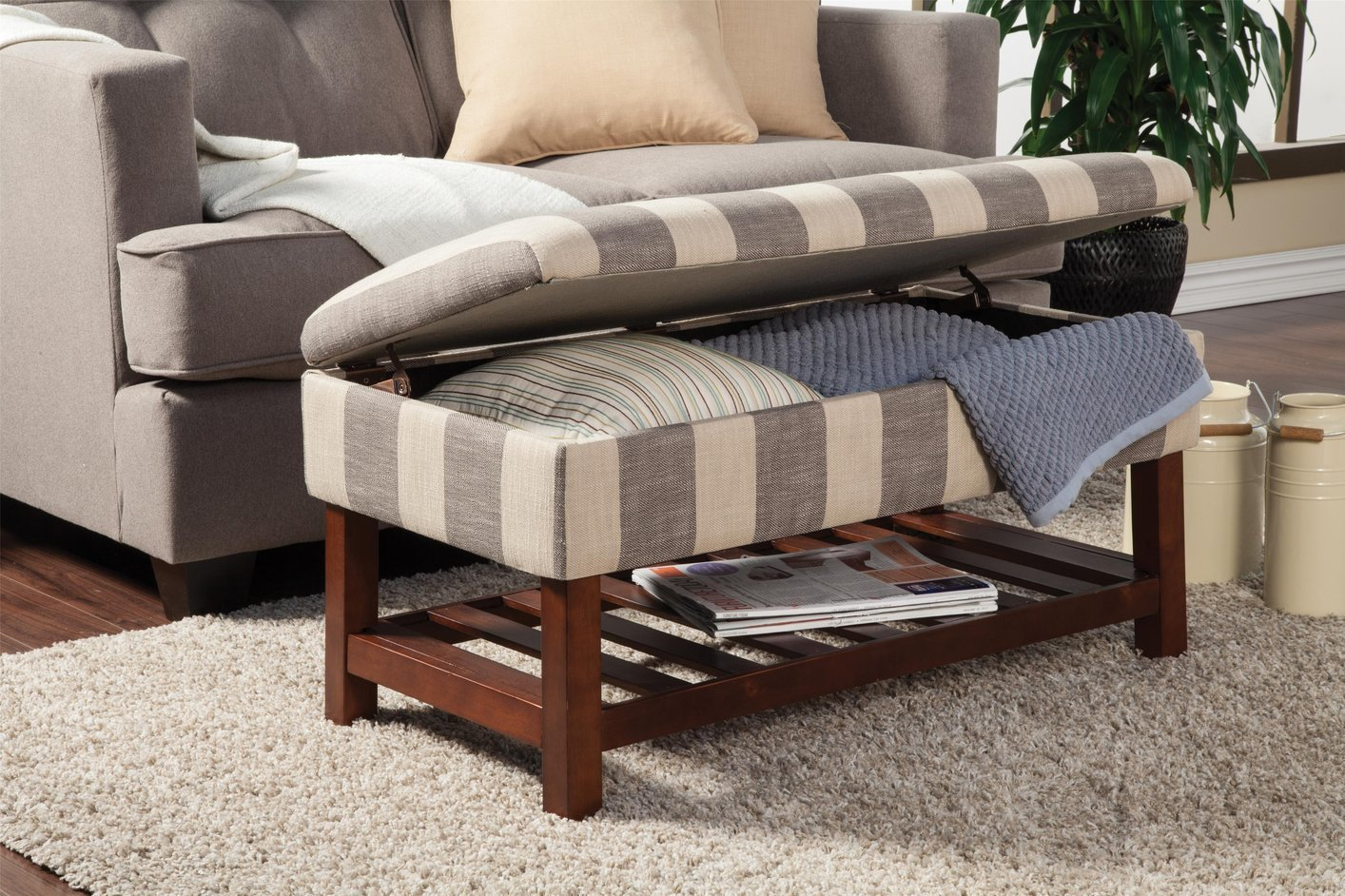 coaster  grey fabric storage bench  stealasofa furniture  - grey fabric storage bench grey fabric storage bench