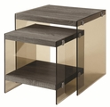 Grey Glass Nesting Table