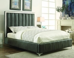 Grey Leather Bed