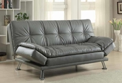 Grey Leather Futon