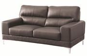 Benjamin Grey Leather Loveseat