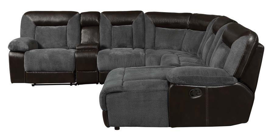 Grey Leather Reclining Sectional Steal A Sofa Furniture